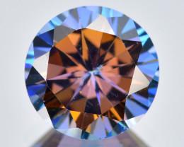 Azotic Topaz 2.39 Cts  Millennium Cut Multi-Color Natural Gemstone