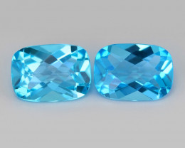 Mystic Topaz 2.03 Cts 2 Pcs Swiss Blue Color Natural Loose Gemstone