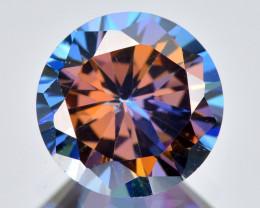 Azotic Topaz 2.35 Cts  Millennium Cut Multi-Color Natural Gemstone