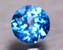 3.20Ct Natural Swiss Blue Topaz Round Cut Lot P484
