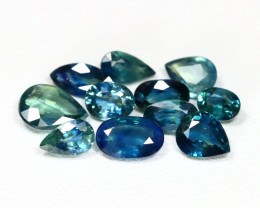 Sapphire 3.60Ct 11Pcs VS2 Natural Nigeria Blue Sapphire Lot SB67