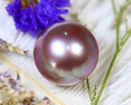 14.50MM 21.68Ct Natural Tahiti Peacock Aubergine Color Pearl D0817/A245