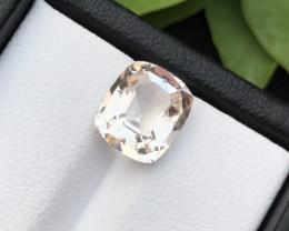 Peach Orange Color 3.00 ct Natural Morganite Ring size~RS