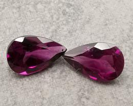 Rhodolites, 1.85ct, stunning colour, great shape!
