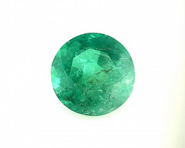 *NR*1.335(ct)No Oil Emerald Nice Color Faceted Gemstone