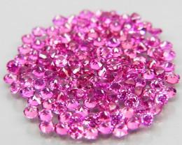 140Pcs/3.05Ct.Round 1.5 mm.Ravishing Color Pink Purple Rhodolite Garnet Afr