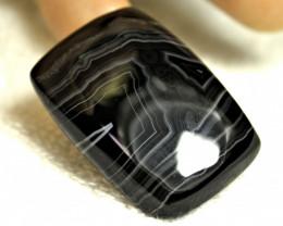 52.6 Carat African Black Agate Cabochon - Gorgeous