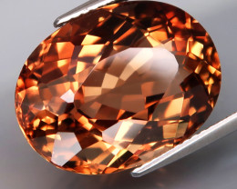 18.87 ct. 100% Natural Earth Mined Topaz Orangey Brown Brazil