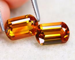Madeira Citrine 1.90Ct VVS Oval Cut Natural Orange Color Citrine SE941