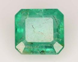 1.50 ct Octagon Cut Natural Zambian Emerald