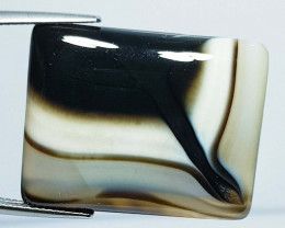 42.37 ct Natural Black Lace Agate Rectangular Cabochon  Gemstone