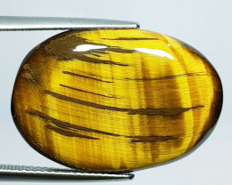 22.65 ct Natural Tiger eye Oval Cabochon  Gemstone