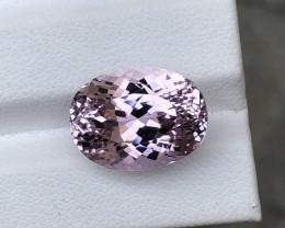 HGTL Certified 14.75 Carats Natural Kunzite Nice Cut Gemstone From Afghanis