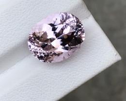 HGTL Certified 11.02 Carats Natural Kunzite Gemstone From Afghanistan