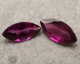 Rhodolites, 1.36ct, eye catching colour, sweet stones!