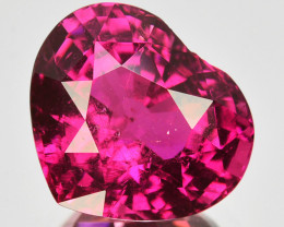 5.87 Cts Awesome Raspberry Pink Rubelite Tourmaline Heart Mozambique