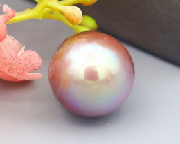 8.44Ct Exceptional Metallic Lavender Rainbow Color Edison Pearl SF13
