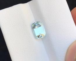 1.45 Ct Natural White Transparent Tourmaline Ring Size Gemstone