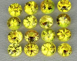 1.70 mm Round 35 pcs 1.04ct Yellow Sapphire [VVS]