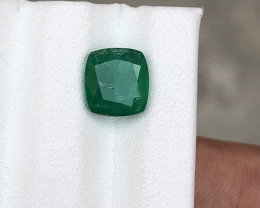 HGTL Certified 2.18 Carats Natural Emerald Nice Cut Gemstone