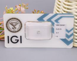 IGI Certified 0.23Ct Natural Light Yellowish Grey X-Y I3 Diamond B2104