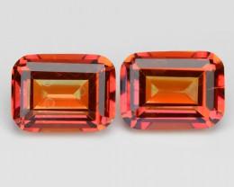Mystic Red Topaz 8.06 Cts 2Pcs Rare Fancy Orange Color Natural Gemstone - P
