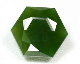 Nephrite 5.69Ct Master Cut Natural Onot River Green Nephrite Jade SA50