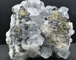 Fluorite & baryte & chalcopyrite - 683 grammes - Hunan, Chine