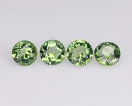Green Mystic Topaz 0.53 Cts 4 Pcs Rare Color Natural Gemstone