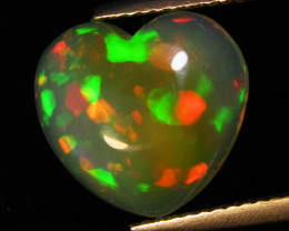 4.66Cts Natural Extremely White Opal Heart Shape Cabochon Loose Gem