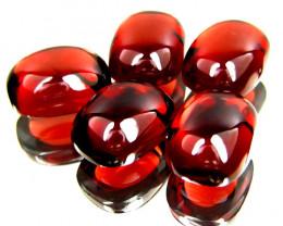 10.34Cts Genuine Natural Red Almandaine Garnet Cushion Cabochon 5Pieces
