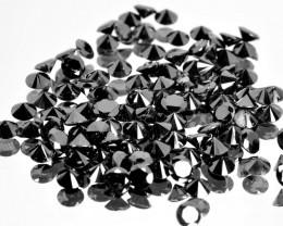 8.21 Cts Natural Black Diamond 2.8 mm 98Pcs