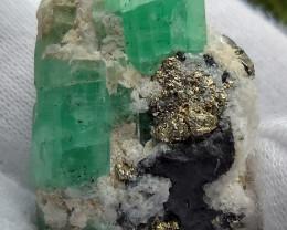 Terminated crystalColombian Coscuez Emerald specimen 61.24