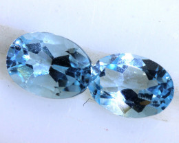 1.90 CTS BLUE TOPAZ NATURAL FACETED (2 PC)   PG-1255 PRECIOUSGEMS