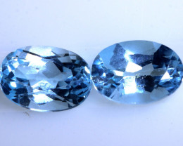 2.10 CTS   BLUE TOPAZ NATURAL FACETED (2 PC) PG-1267 PRESIOUSGEMS