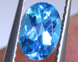 0.95 CTS BLUE TOPAZ NATURAL FACETED  PG-1272-PRECIOUSGEMS