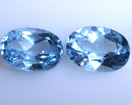 2 CTS BLUE TOPAZ NATURAL FACETED (2 PC)   PG-1287 PRESIOUSGEMS