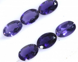 2.05  CTS IOLITE FACETED STONE (6 PCS)    PG-1294 PRESIOUSGEMS