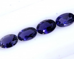 1.50 CTS IOLITE FACETED STONE (2 PAIR)   PG-1296  PRESIOUSGEMS