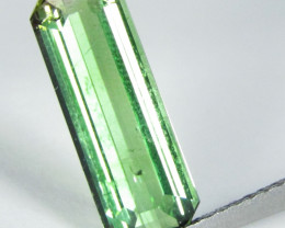 3.12Cts Natural Amazing Green Tourmaline 14.8x5.5mm Custom Cut