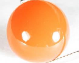 12.98Cts Amazing Natural Orange Moonstone Round Shape Loose Gemstone