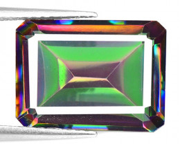 Mystic Quartz 7.12 CTS Natural Fancy Aurora Borealis Color Gemstone