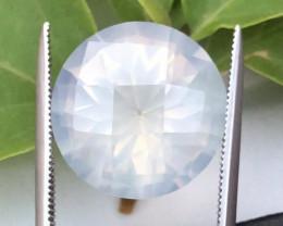 Rare Peach Pink 11.85 ct Milky quartz~Fancy Cut~T