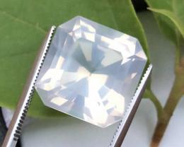 Rare Peach Pink 11.35 ct Milky quartz~Fancy Cut~T