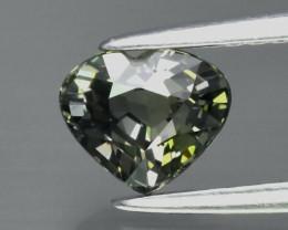 1.06ct VVS Heart Natural Unheated Green Sapphire