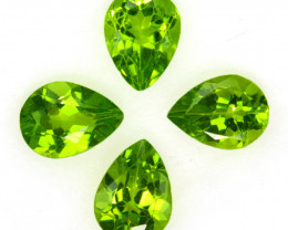 4.77 Cts Natural Green Peridot 8 X 6mm Pear Parcel