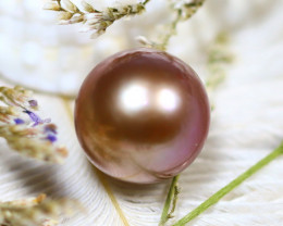 12.40MM 13.74Ct Natural Tahiti Aubergine Color Pearl E1112/A244