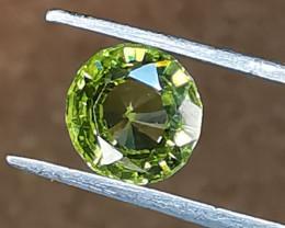 Chrysoberyl, 1.585ct, beautiful Ceylon stone in typical light green colour!