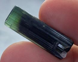 16.55 CT, Natural Green Cap Tourmaline Crystal from Astaknala, Pakistan