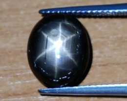6.55 CTS NATURAL BLACK  STAR SAPPHIRE UNHEATED GENUINE CABS